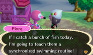 Flora ACNL Fishing
