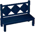 Dark blue bench