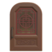 NH-House Customization-brown imperial door (round)