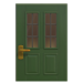 NH-House Customization-green vertical-panes door (square)