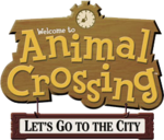 Logo de Animal Crossing Let's Go to the City