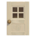NH-House Customization-white windowed door (square)