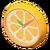 NH-Furniture-Orange wall-mounted clock (orange)