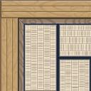 Flooring planked tatami