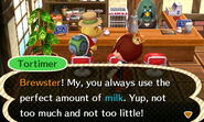 Tortimer hints of his milk preference