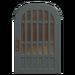 NH-House Customization-blue latticework door (round)