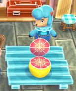 Tangerine chair grapefruit