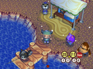 Martín y vecinos pescando en el lago