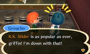 Groucho Talks About K.K. Slider
