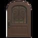 NH-House Customization-dark-brown iron grill door (round)
