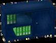 Dark blue bookcase
