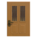 NH-House Customization-maple vertical-panes door (square)