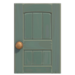 NH-House Customization-gray wooden door (square)