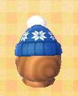 Blue Pom-Pom Hat