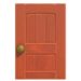 NH-House Customization-wooden door (square)