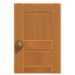 NH-House Customization-maple wooden door (square)