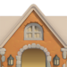 NH-House Customization-orange cobblestone exterior