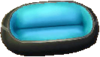 Astro blue and black sofa