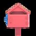 NH-House Customization-pink wooden mailbox