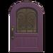 NH-House Customization-purple iron grill door (round)