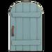 NH-House Customization-blue rustic door (round)