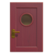 NH-House Customization-burgundy basic door (square)