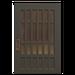 NH-House Customization-black latticework door (square)