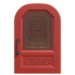 NH-House Customization-red imperial door (round)