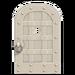 NH-House Customization-white iron door (round)