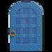 NH-House Customization-blue iron door (round)