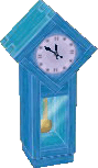 Light blue clock