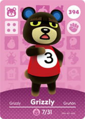 Amiibo 394 Grizzly