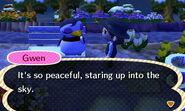 Gwen stargazing