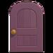 NH-House Customization-purple wooden door (round)