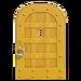 NH-House Customization-yellow iron door (round)