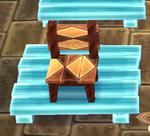 Modern wooden chair custom diamond