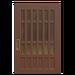 NH-House Customization-walnut latticework door (square)