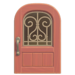 NH-House Customization-pink iron grill door (round)