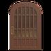 NH-House Customization-walnut latticework door (round)