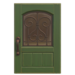 NH-House Customization-green iron grill door (square)