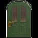 NH-House Customization-green vertical-panes door (round)