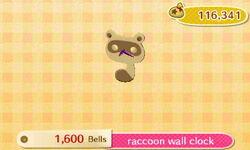 Raccoon Wall Clock Catalog