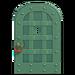 NH-House Customization-green iron door (round)