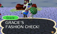 Gracie introducing the Fashion Check