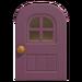 NH-House Customization-purple windowed door (round)