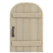 NH-House Customization-white rustic door (round)