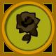 Rosa negra marchita