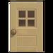 NH-House Customization-beige windowed door (square)
