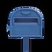 NH-House Customization-blue ordinary mailbox