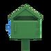 NH-House Customization-green wooden mailbox